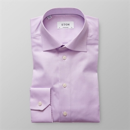 Eton skjorte Lilla (Purple Herringbone Twill Shirt)