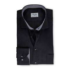 Stenstrøms Skjorte Sort (Classic Black Shirt With Details)
