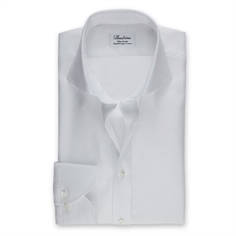 Stenstrøms Skjorte Hvid (White Fitted Body Shirt In Textured Twill)